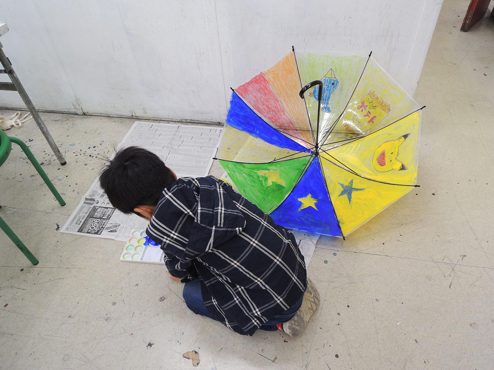 オリジナル傘制作中