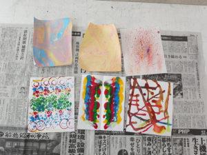 色々な手法で素材を作りました