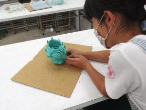 油粘土で縄文土器を作ろう2