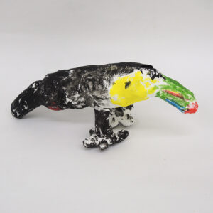 樹脂粘土による「オオハシ」4年生の作品